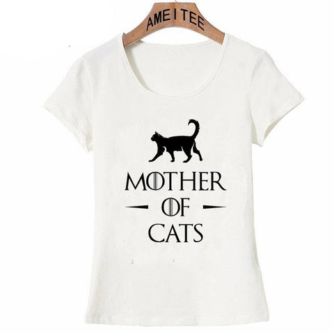 Winter Game of Thrones GOT 2018 New  Women T Shirts Short Sleeve Slim Lady T-Shirt Mother  Cats Pugs Printed Tops Funny Casual Tee AT_77_7