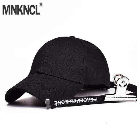Trendy Winter Jacket MNKNCL 2018 New Bigbang GD Cap K-pop Bts Hoed Clip Letters Baseball Cap Bone Snapback Caps Hip Hop Hat AT_92_12