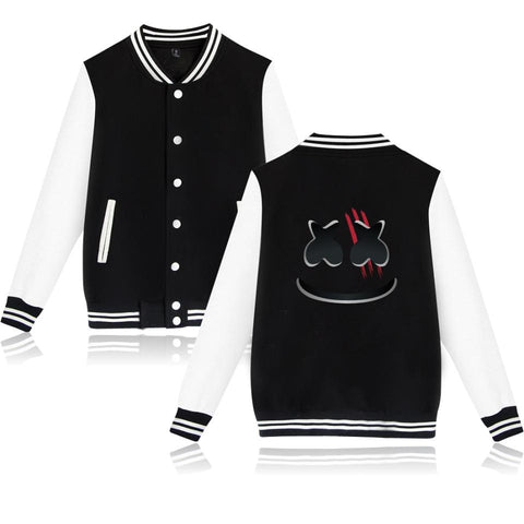 Trendy BTS Marshmello Baseball Jacket Capless Men Hoodies And Sweatshirts  spring autumn jacket women Sweatshirts Fashion Jacket Clothe AT_94_13