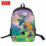 Adventure Time Backpack For Teenager Anime Monster High Backpacks Kids Schoolbags Boys Girls School Bags Daily Backpack Book Bag - Animetee - 1