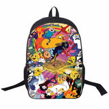 Adventure Time Backpack For Teenager Anime Monster High Backpacks Kids Schoolbags Boys Girls School Bags Daily Backpack Book Bag - Animetee - 3