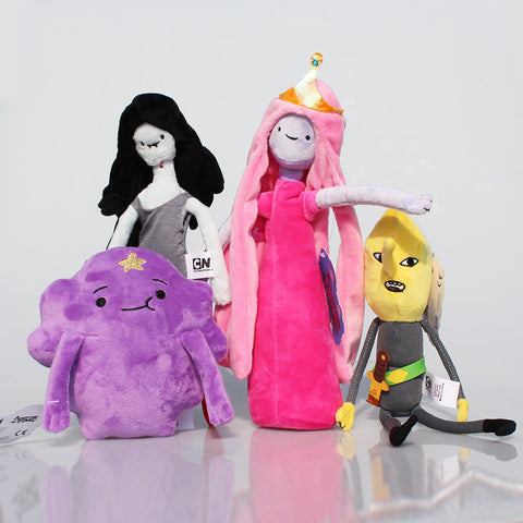 4pcs/lot Adventure Time Lumpy Space Princess Bonnibel Bubblegum Lemongrab Marceline Stuffed 17.29Plush Toy Dolls 15~28cm - Animetee