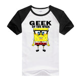 2016 Hot tees cartoon fitness men's t-shirt cartoon Designed casual shirt bob SpongeBob T shirt for men and women short sleeves - Animetee - 3
