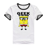 2016 Hot tees cartoon fitness men's t-shirt cartoon Designed casual shirt bob SpongeBob T shirt for men and women short sleeves - Animetee - 6