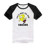 2016 Hot tees cartoon fitness men's t-shirt cartoon Designed casual shirt bob SpongeBob T shirt for men and women short sleeves - Animetee - 5