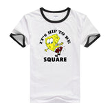 2016 Hot tees cartoon fitness men's t-shirt cartoon Designed casual shirt bob SpongeBob T shirt for men and women short sleeves - Animetee - 4