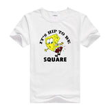 2016 Hot tees cartoon fitness men's t-shirt cartoon Designed casual shirt bob SpongeBob T shirt for men and women short sleeves - Animetee - 2