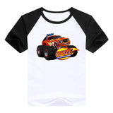 2016 fashion children clothes good quality boys clothing Blaze and the Monster Machines kids t shirt summer cotton T-shirt - Animetee - 5