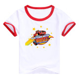 2016 fashion children clothes good quality boys clothing Blaze and the Monster Machines kids t shirt summer cotton T-shirt - Animetee - 7