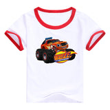 2016 fashion children clothes good quality boys clothing Blaze and the Monster Machines kids t shirt summer cotton T-shirt - Animetee - 12