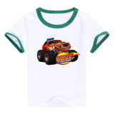 2016 fashion children clothes good quality boys clothing Blaze and the Monster Machines kids t shirt summer cotton T-shirt - Animetee - 4