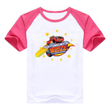 2016 fashion children clothes good quality boys clothing Blaze and the Monster Machines kids t shirt summer cotton T-shirt - Animetee - 20