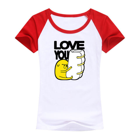 2016 women T shirt adventure time Casual shirt fashing T-Shirt For women top tees Adventure Time with Finn and Jake - Animetee - 3