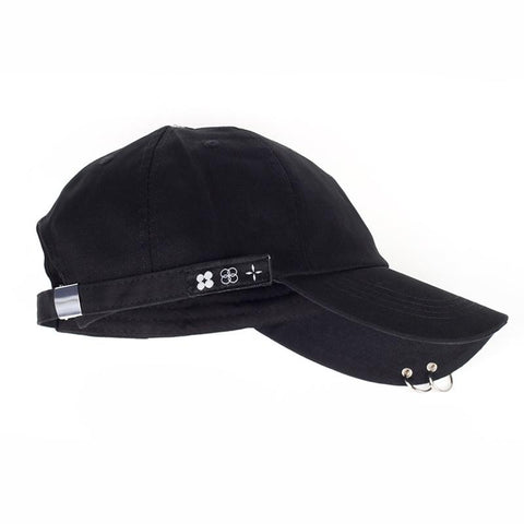 Trendy Winter Jacket Hot sale 2017 New BTS JIMIN Fashion K POP Iron Ring baseball Hats Adjustable cotton Baseball Cap 100% Handmade Ring  AT_92_12