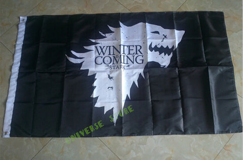 3X5FT Game Of Thrones Winter Is Coming Stark Sigil flags 90x150cm polyester digital print banner 100D - Animetee