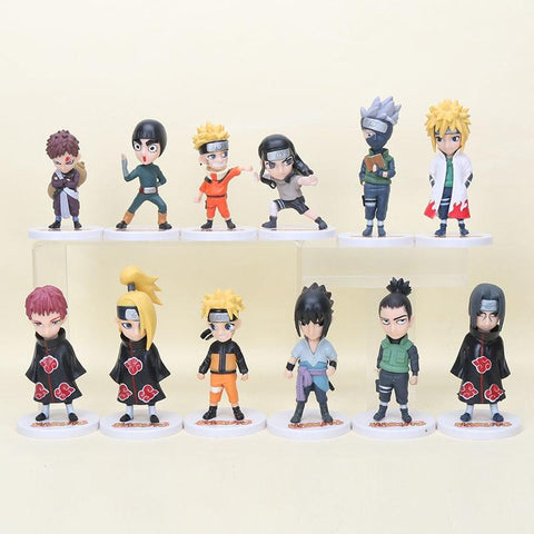 Naruto Sasauke ninja 8-12cm Anime  Akatsuki Full Set Q Cute Anime Lovely Pvc Figure Toys for Children Gifts Collection AT_81_8