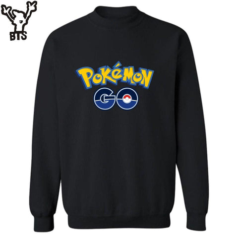 BTS Anime  Go Funny Sweatshirt Men 2016 in go 4XL Harajuku Sweatshirt Hoodies Pocket Monster Design 3XLKawaii Pokemon go  AT_89_9