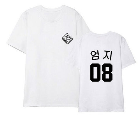 Kpop gfriend girl friend parallel member korean name printing o neck t-shirt for summer unisex loose short sleeve t shirt