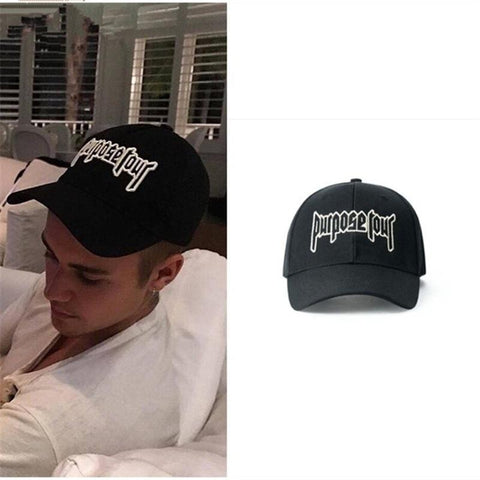 Trendy Winter Jacket Brand New Purpose Tour Baseball Cap Embroidered Vintage Retro Justin Bieber Hat High Street Dark Tide Caps For Women and Men AT_92_12