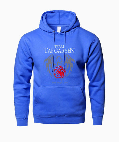 Winter Game of Thrones GOT Hot Sale Hoodies Sweatshirts 2018 Winter Fleece Autumn Hoody Print  Team Targaryen Fire & Blood Sweatshirt Kpop AT_77_7