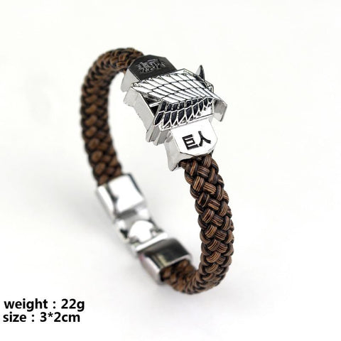 Legend of Zelda Link Anime Cartoon Leather braided bracelet Woven bangles Attack on Titan  of  Naruto One Piece Assassin's Creed bangle NES Switch AT_87_9
