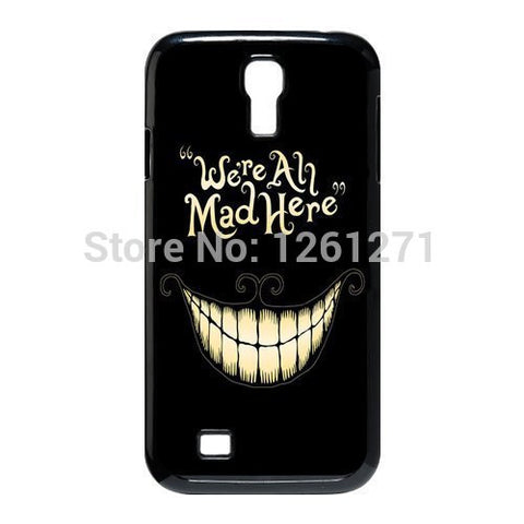 Alice in Wonderland We're all mad here Cheshire Cat Smile Case Cover for Samsung Galaxy S3 S4 S5 S6 hwd tqi - Animetee - 1
