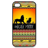African Tribal Design Hakuna Matata Lion King Hard Plastic Back Cover Case for iPhone 4/4S/5/5S/5C/6/6s/6plus/6s plus TQI MSC - Animetee - 1