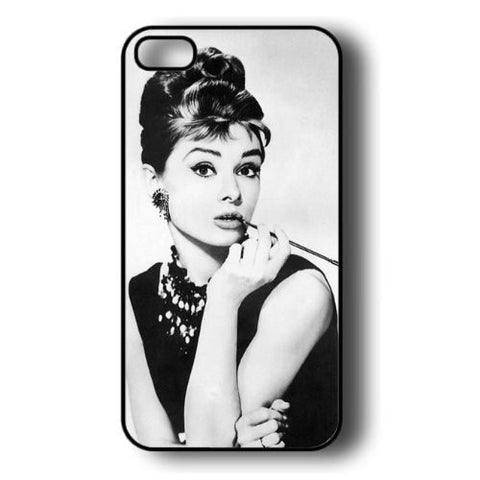 Audrey Hepburn Makeup iconic Hard Plastic Case for iPhone 4/4s/5/5s/5c/6/6s/6 plus/6s plus CELEBS - Animetee - 1