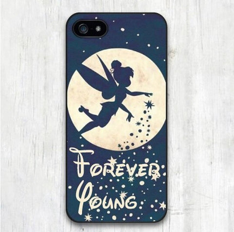 Classic Forever Young Tinkerbell Protective Case Cover for iphone 4 4s 5 5s 5c 6 6s 6 plus 6s plus TQI - Animetee - 1