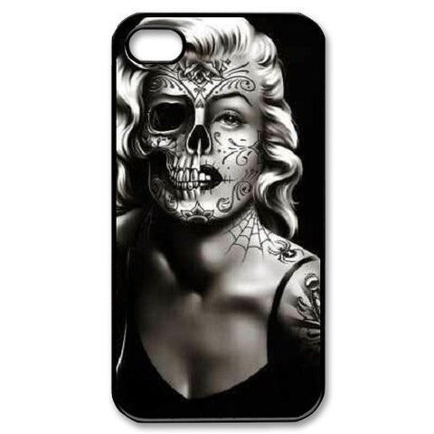 Marilyn Monroe Fashion Half Skull Face Case for iphone 4 4s 5 5s 5c 6 6s 6plus 6s plus Celebs - Animetee - 2