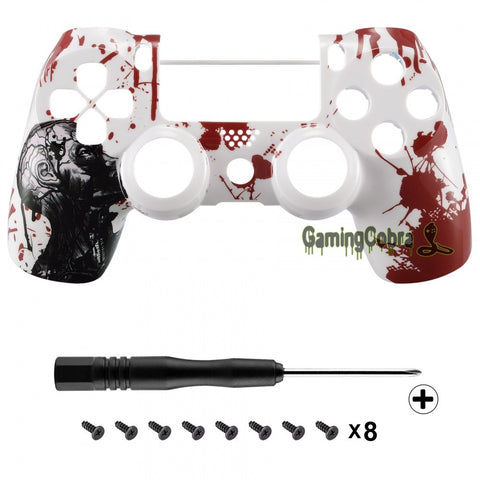 #SP4FT14 Zombie Blood Patterned Repair Top Shell for PS4 Pro&Slim Controller JDM-040