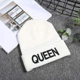 Cool New Arrive Brand King Queen Snapback Cap Men Women BEANIE Sport Hip Hop Hat Couple Embroidery Hat Outdoors Knitting HatAT_93_12
