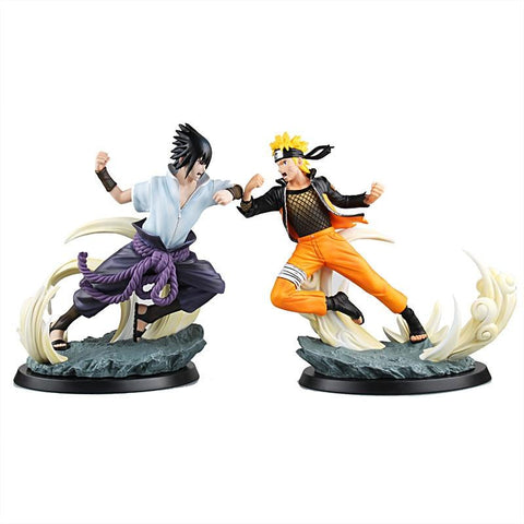Naruto Sasauke ninja anime  action figure Tsume Uzumaki VS Sasuke statue doll decoration pvc classic collection model toys for gift 26-27cm AT_81_8