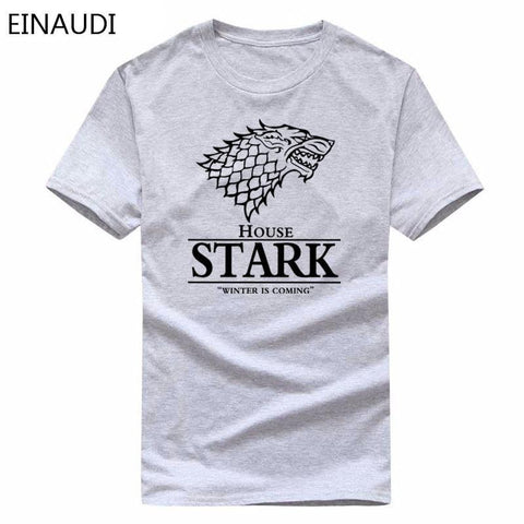 Winter Game of Thrones GOT 2018  Wolf T-shirt Stark T-Shirt Men's  T Shirt Summer High Quality Male Casual Tee Shirts Tops AT_77_7