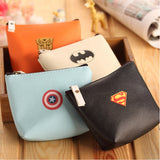 Baby Boys Kids Superhero Batman Mini Coin Purses Cartoon PU leather Coin Wallet Key Bag Holders Money Wallet For Girls Gift - Animetee - 1
