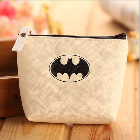 Baby Boys Kids Superhero Batman Mini Coin Purses Cartoon PU leather Coin Wallet Key Bag Holders Money Wallet For Girls Gift - Animetee - 5