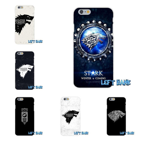 Winter Game of Thrones GOT GOT  House Stark Logo Slim Silicone Phone Case For Samsung Galaxy S3 S4 S5 MINI S6 S7 edge S8 Plus Note 2 3 4 5 AT_77_7