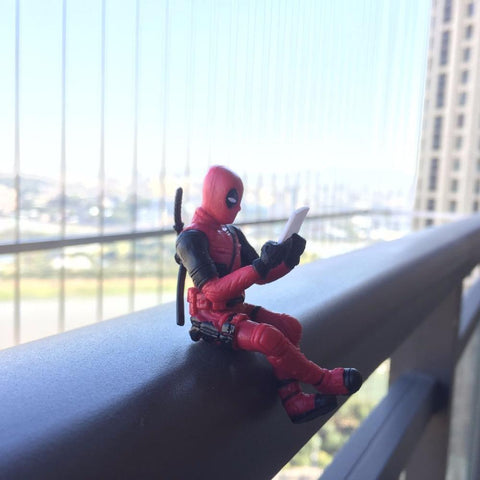 Deadpool Dead pool Taco  Action Figure Sitting Posture Model  Anime X-Men Mini Doll Decoration Pvc Collection Figurine Toys For Boys 7cm AT_70_6