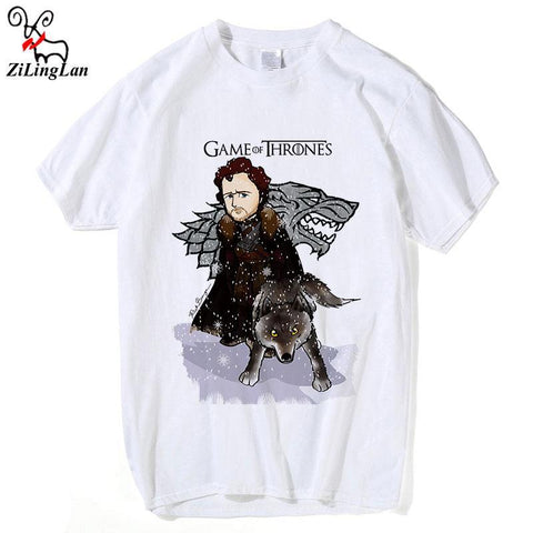 Winter Game of Thrones GOT Zilinglan Winter Is Coming  Men Cotton T Shirts Cotton O-neck Men Cotton Tees Casual Tee Shirts Hipster AT_77_7