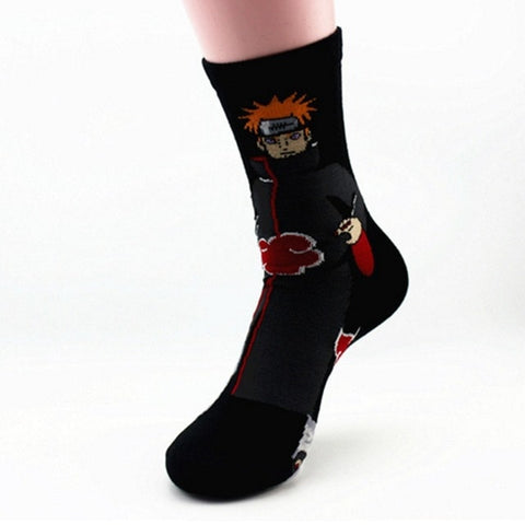 1 pair Cute Japan Anime Naruto Socks Uzumaki Naruto Print Cotton cosplay Socks Accessories