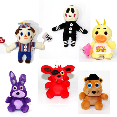 5 Five Nights at Freddy's Plush Doll Toys Chica Bonnie Freddy Foxy Horror Game - Animetee - 1