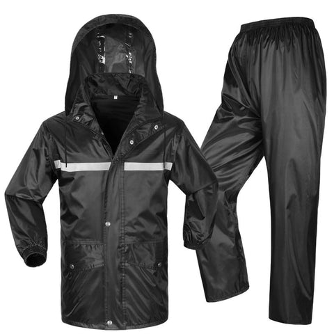 Trendy 2017 Motorcycle waterproof jacket reflective raincoat & pants double layer moto rain Jackets Electric bicycle Rain clothing AT_94_13