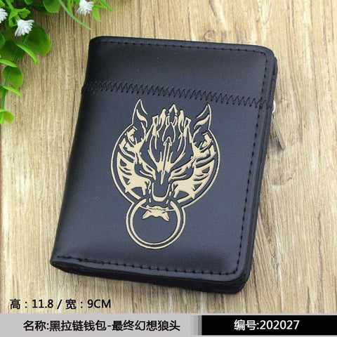Final Fantasy Cloud Sephiroth kupo  Cloud Strife Zipper Purse More than 10 Types Naruto Uchiha Sasuke Black Wallet to Choose for Collection or Cosplay AT_84_8