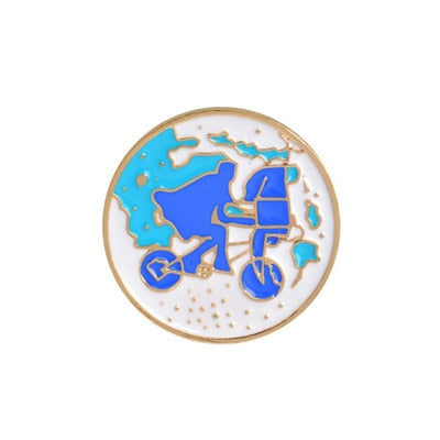 Home & Garden 1 Pcs Cartoon Bicycle Wish Bottle Metal Brooch Button Pins Denim Jacket Pin Jewelry Decoration Badge For Clothes Lapel Pins