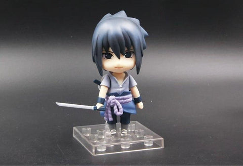 Naruto Sasauke ninja Anime  Shippuden Uchiha Sasuke 707 Nendoroid Doll PVC Action Figure Collection Model Toys 10cm AT_81_8