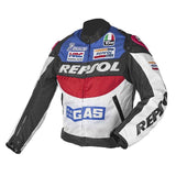 Trendy Duhan Repsol Motocross Jackets Repsol motorbike racing jackets PU leather Oxford cloth, orange & blue color M - XXL AT_94_13