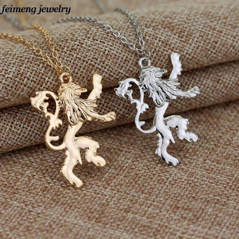 Winter Game of Thrones GOT   a lot the  Lannisters Pendant necklace Gold Silver plated Lion Chain Necklace For Men Women AT_77_7