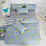 Cool Plum Blossom Flower Floral King Queen Double Size Duvet Cover 1.5m 1.8m 2m 2.2m Bed Sheet Pillowcase 4pcs Bedding Set BedlinensAT_93_12