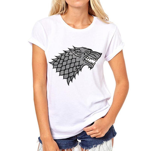 Winter Game of Thrones GOT Fashion Women Lady Brand Style T-shirts Slim Fit Valar Morghulis  T Shirts Casual girl Tshirts 33W-14# AT_77_7