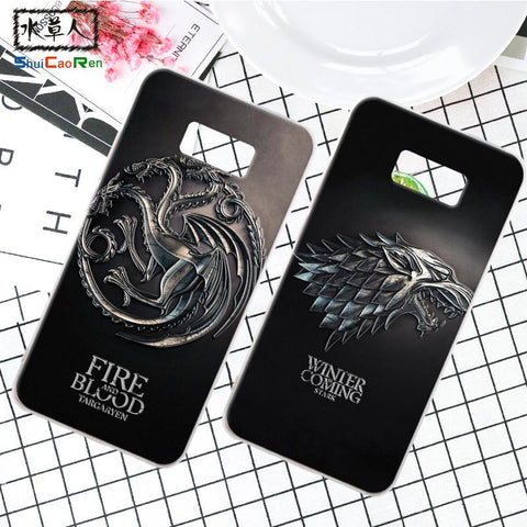 Winter Game of Thrones GOT ShuiCaoRen Silicone Case For Samsung Galaxy S8 Retra  Cover Coque Ice and Fire Fundas For Samsung Galaxy S8 plus AT_77_7
